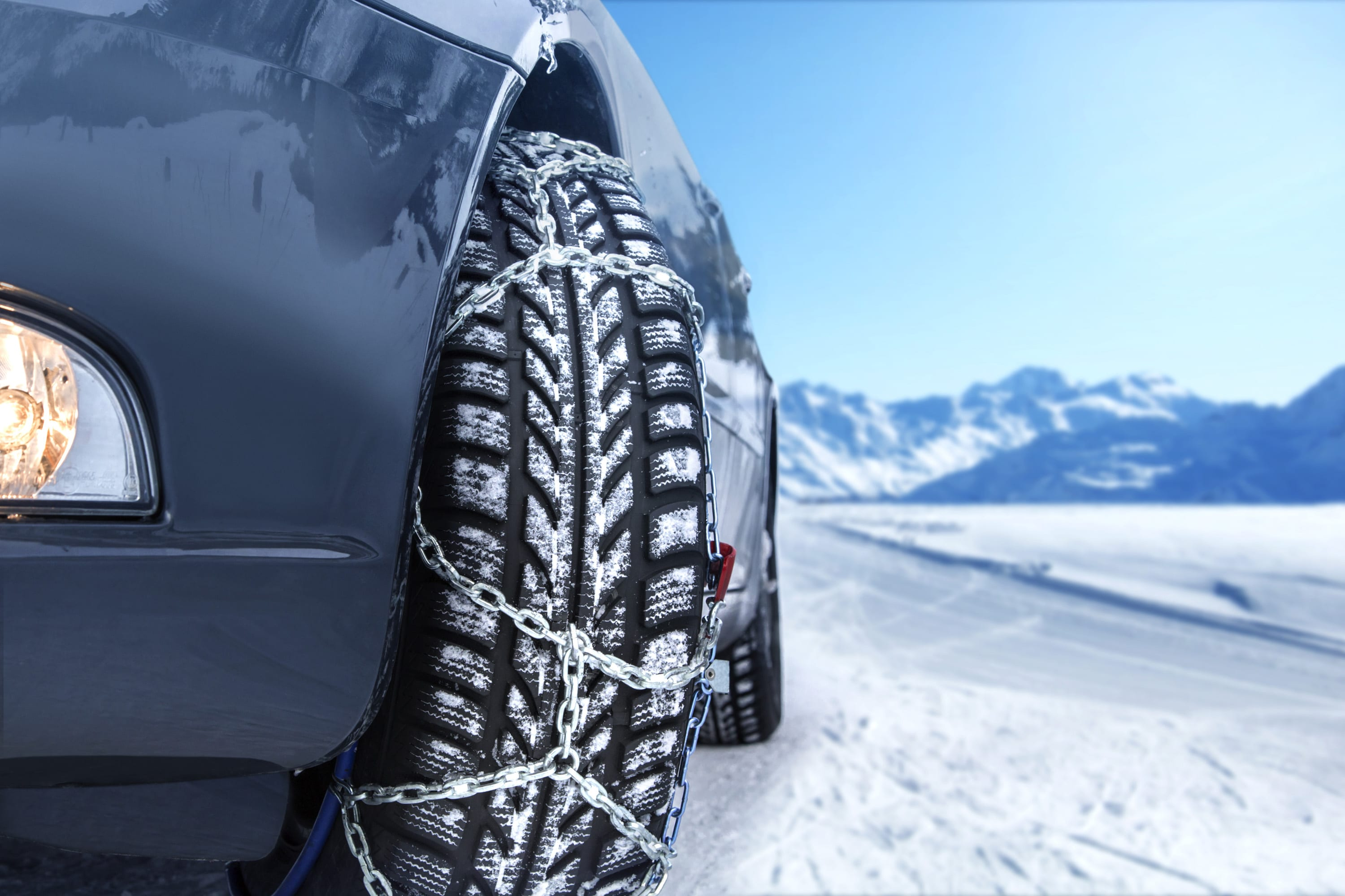 winter driving snow tires