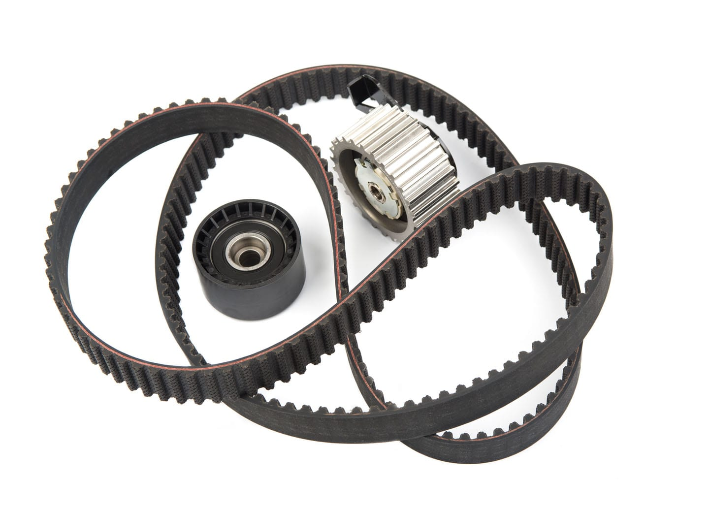 serpentine belt with gears